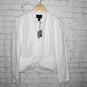 Cynthia Rowley NWT White Linen Blazer